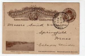URUGUAY: 1905 postal stationery postcard to USA (C53052)