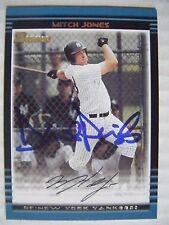MITCH JONES DAVID PARRISH signed YANKEES 2002 Bowman baseball card AUTO DODGERS