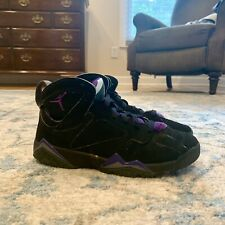 Nike Air Jordan 7 Retro GS Black And Purple Size 5.5Y