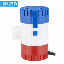 "1100 GPH 12V 3.0A Submersible Marine Boat Electric Bilge Pump 1-1/8"" Outlet New"