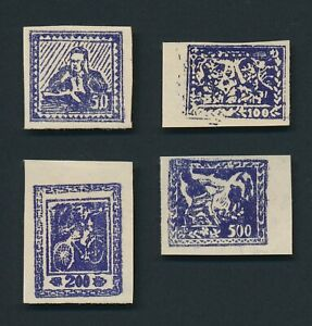 CHINA STAMPS 1949 LIBERATED AREAS YILI N.W WOODBLOCKS GENUINE SET, YANG #NW103/6