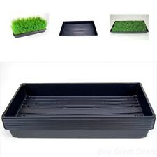 Plant Growing Trays 10 Indoor Gardening Growing Microgreens Durable Plastic Home