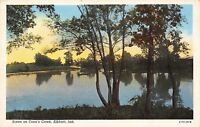 Elkhart Indiana~Scene On Conns Creek~1920 Postcard