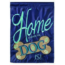 Home Is Where The Dog Is Blue Zodiac 13 x 18 Small Outdoor House Flag