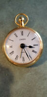 Linden Brass Quartz Alarm Clock West Germany Circa.1962 Running New Batteries