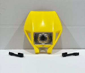 Panel Headlight Holder Husaberg Husqvarna Yellow Cemoto With Light Universal