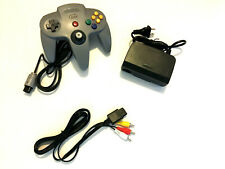 N64 Nintendo 64 Hookup Connections AC Adapter Power Cord RCA AV Cable Controller
