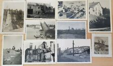 10 ORIGINAL GERMAN WW2 Army battle damaged towns / structures photos #B9