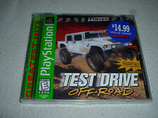 FACTORY SEALED PLAYSTATION PS1 GAME TEST DRIVE OFF ROAD RACING HUMMER JEEP ROVER