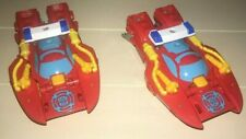 PLAYSKOOL Transformers Rescue Bots Heatwave LOT OF 2 Boat Action Figures