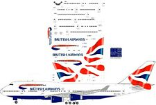 British Airways Boeing  747-400 Airliner Decal 1:144 scale for Revell kit