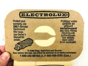 Genuine Electrolux Vacuum Canister Bag Style C Factory Warranty  - 10 NEW Bags