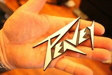 Real Peavey Silver Guitar Or Bass Amp or Case Logo