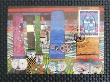 ONU VIENNA MK 1983 centinaia di acqua maximum carta carte MAXIMUM CARD MC cm c5121