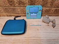 Blue Pikachu Nintendo 2DS Rare Pokemon gameboy with case official charger