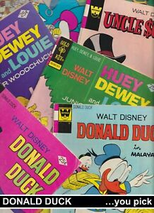 CLEARANCE: DONALD DUCK UNCLE SCROOGE HUEY WHITMAN comics VG you pick DISNEY