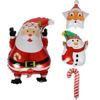 Weihnachten Weihnachtsmann Schneemann Zuckerstange Aluminiumfolie Luftballons