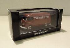 VW T1 Kastenwagen mit Porsche Werbung 1963 Bully porscherot Minichamps 1:43