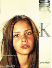 PUBLICITE ADVERTISING 075  2001  CALVIN KLEIN  parfum femme THE ONE  ANNA