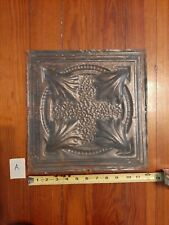 Vintage/Antique Metal Tin Ceiling Tile - Approx. 12 X 12 in. (A)