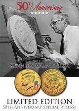 2014 JFK 24K GOLD Plated Half Dollar Coin *50 YEAR SPECIAL RELEASE LOGO* P MINT
