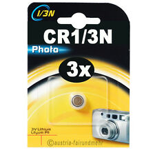 3x CR1/3N Lithium Foto-Batterie DURACELL DL1/3N Photo 3V 2L76