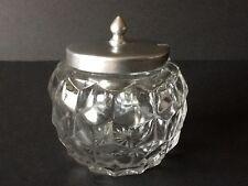 "Elegant Depression Glass Fostoria American 4 3/4"" Covered Rose Bowl"