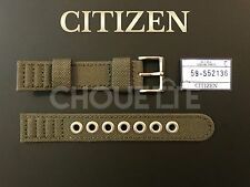 Genuine Citizen 18mm Green Canvas Watch Band for Eco-Drive BM8180-03E, 4-S006597