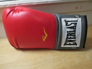 Everlast New Old Stock Boxing Glove 14oz Red/Gray for Autograph 1 Glove only USA