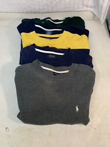Lot Of 5 Polo Ralph Lauren Mens Long Sleeve Waffle Knit Thermal Shirts, M, L, XL