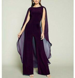 Lauren Ralph Lauren Cape-Overlay Jumpsuit MSRP $210 Size 2 # 8B 1377 Blm