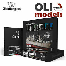 NAVAL & GREY EFFECTS Weathering Oil Paint Set 6x20ml - Abteilung 502 ABT-306