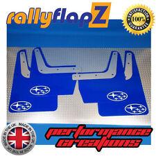 SUBARU IMPREZA Classic (93-01) GC8 Mud Flaps Mudflaps 4mm PVC Blue Stars White