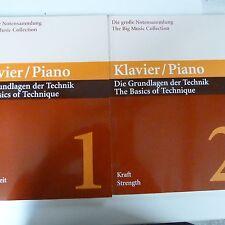 Técnica de piano los conceptos básicos de Vol 1 Velocidad + Vol 2 fuerza, M. babinsky