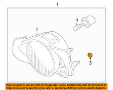 MITSUBISHI OEM Galant Foglight Fog Driving Light Lamp-Fog Lamp Nut MS440501