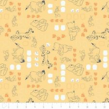 Winnie The Pooh Chamomile Characters Camelot 100% cotton fabric by the yard
