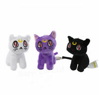 3Pcs/Set Anime Sailor Moon Luna Cat Plush Toy 17cm
