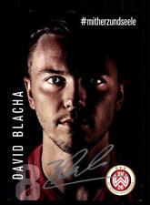 David Blacha Autogrammkarte SV Wehen Wiesbaden 2017-18 Original Sign+A 171269