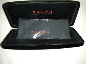 Ralph Lauren, Black, Hard, Clamshell, Eyeglass Case w/New RL Cloth