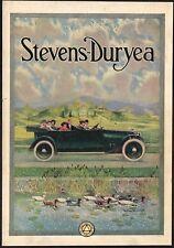 1914 Original Vintage Stevens Duryea Car William Harnden Foster Art Print Ad