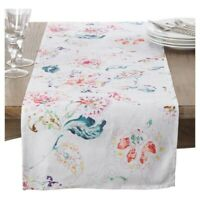SARO LIFESTYLE Primavera Collection Printed Floral Table Runner 16x72