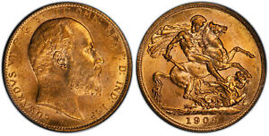 CANADA. Edward VII 1909-C AV Sovereign. PCGS MS61 RCM Ottawa St. George OGH
