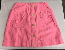 Crewcuts Girls Size 8 Pink Button Skirt