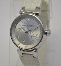 Louis Vuitton Tambour Lovely Diamonds Silver Dial Ladies SS Robber band Watch