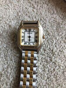 VINTAGE  CARTIER Quartz  Paris 1970s Hand-winding Watch Roman Dial
