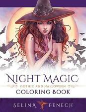Night Magic - Gothic and Halloween Coloring Book (Paperback or Softback)