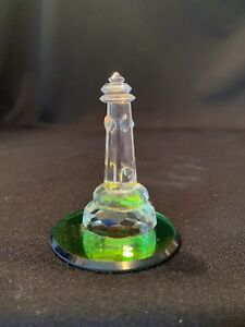 Vintage Austrian Crystal Lighthouse Figurine Vitrail Rainbow Mirror Base