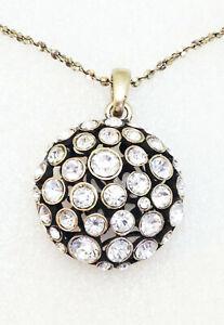Lia Sophia Kiam SOPHIA Reversible w Crystals Longer Style Necklace