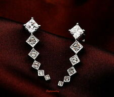 Crystal White Gold Filled Simulated Fashion Earrings