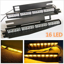 NEW Amber 32LED Car Police Emergency Traffic Advisor Vehicle Strobe Lights Bar